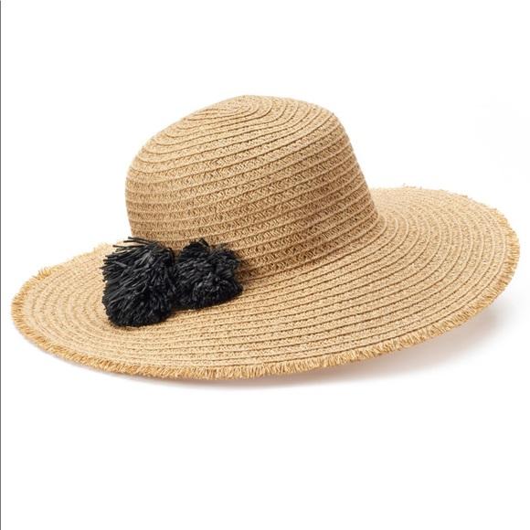 a8acca4ce9850 Sonoma Pom-Pom Floppy Hat Women s New